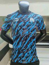 2021 Marseille Player Version Blue Black Training Shirts