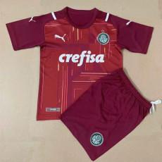 21-22 Palmeiras Goalkeeper Red Kids Soccer Jersey