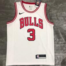 Bulls WADE #3 White Top Quality Hot Pressing NBA Jersey