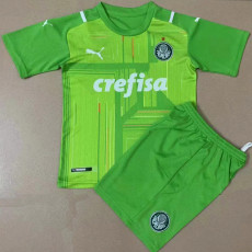21-22 Palmeiras Goalkeeper Green Kids Soccer Jersey