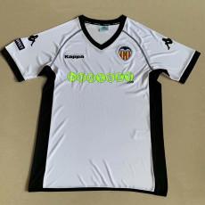 2011-2012 Valencia Home White Retro Soccer Jersey