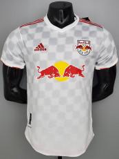 21-22 New York Red Bulls Home White Player Version Soccer Jersey 纽约红牛