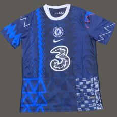 2021 CHE Blue grey Training Soccer Jersey