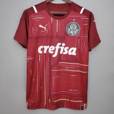 21-22 Palmeiras Goalkeeper Red  Soccer Jersey