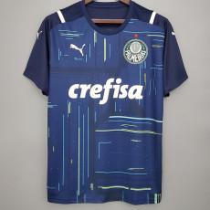 21-22 Palmeiras Goalkeeper Blue Soccer Jersey