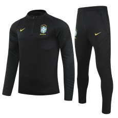 21-22 Brazil Black Half Pull Sweater Tracksuit