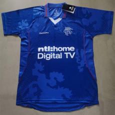 2002-2003 Rangers Home Retro Soccer Jersey