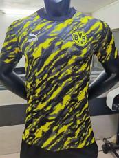 20-21 Dortmund Yellow Black Player Version Soccer Jersey