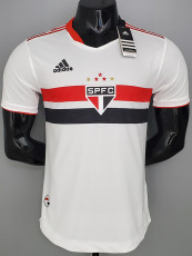 21-22 Sao Paulo Home Player Version Soccer Jersey