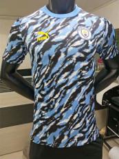 20-21 Man City Blue Black Player Version Soccer Jersey