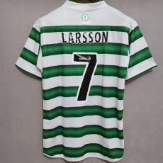 LARSSON 7# 2003-2004 Celtic Home Retro Soccer Jersey
