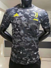 20-21 JUV Grey Black Player Version Soccer Jersey