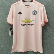 2018-2019 Man Utd Away Pink Retro Soccer Jersey