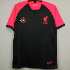 20-21 LIV Pink Black Fans Soccer Jersey