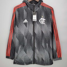 21-22 Flamengo Grey Black Windbreaker