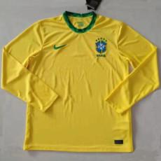 2020 Brazil Home Long Sleeve Soccer Jersey