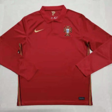 2020 Portugal Home Long Sleeve Soccer Jersey
