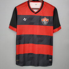 21-22 EC Vitoria Nego Home Red Fans Soccer Jersey