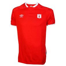 21-22 America de Cali Home Red Fans Soccer Jersey  (阿美利加)
