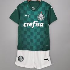 21-22 Palmeiras Home Kids Soccer Jersey