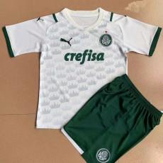21-22 Palmeiras Away White Kids Soccer Jersey