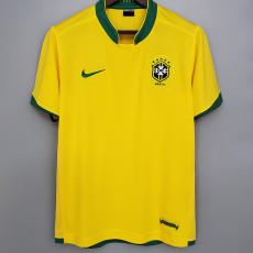 2006 Brazil Home Yellow Retro Soccer Jersey