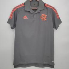 21-22 Flamengo Gray Polo Short Jersey