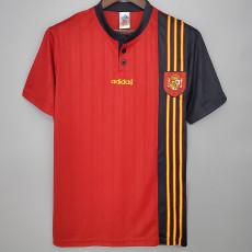 1996 Spain Home Retro Soccer Jersey