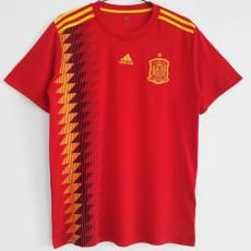 2018 Spain Home Retro Soccer Jersey