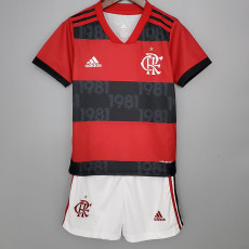 21-22 Flamengo Home Kids Soccer Jersey