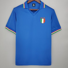 1982 Italy Home Retro Soccer Jersey