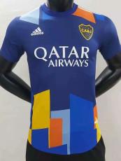 20-21 Boca Juniors Third Blue Player Version Soccer Jersey