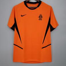 2002 Netherlands Home Retro Soccer Jersey