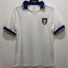 1982 Italy Away white Retro Soccer Jersey