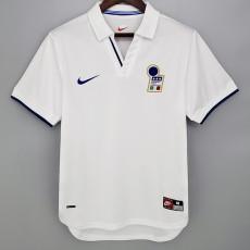 1998 Italy Away White Retro Soccer Jersey