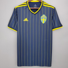 2020 Sweden Away 1:1 Soccer Jersey