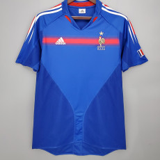 2004 France Home Retro Soccer Jersey