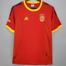 2002 Spain Home Retro Soccer Jersey