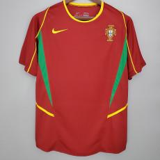 2002 Portugal Home Retro Soccer Jersey