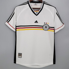 1998 Germany Home White Retro Soccer Jersey