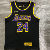 2021 Lakers BRYANT #24 Bonus Edition Black Top Quality Hot Pressing NBA Jersey
