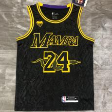 2021 Lakers 大蛇 BRYANT #24 Big Snake Black Top Quality Hot Pressing NBA Jersey