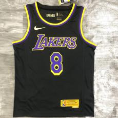 2021 Lakers Bryant #8 Bonus Edition Black Top Quality Hot Pressing NBA Jersey
