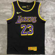 2021 Lakers James #23 Bonus Edition Black Top Quality Hot Pressing NBA Jersey