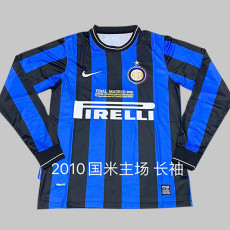 2009-2010  INT Home Long Sleeve Retro Soccer Jersey (欧冠决赛字)