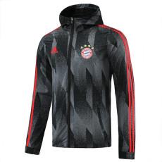 21-22 Bayern Black Gray Windbreaker