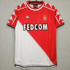 1999-2000  Monaco Home Retro Soccer Jersey