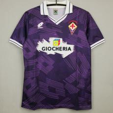 1991-1992 Fiorentina Home Retro Soccer Jersey