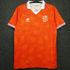 1990 Netherlands Home Retro Soccer Jersey