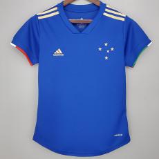21-22 Cruzeiro Home Blue Women Soccer Jersey